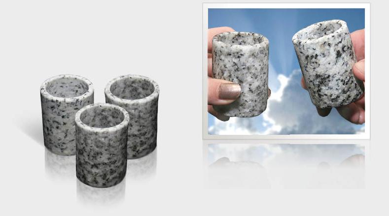 Glas i granit