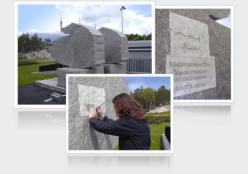 Gravstenar och utsmyckningar i granit