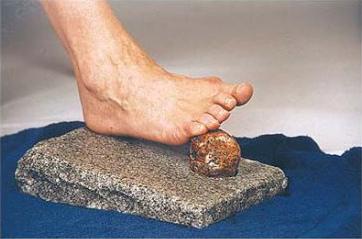 Rocky Feet - Naturlig fotvård med fotfil av granit