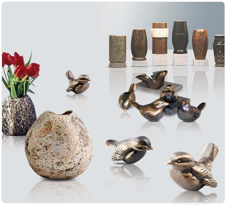 Granitvaser och brons