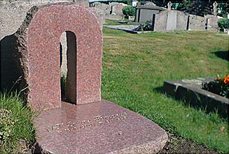 Konst av Jan Bergh som gravsten